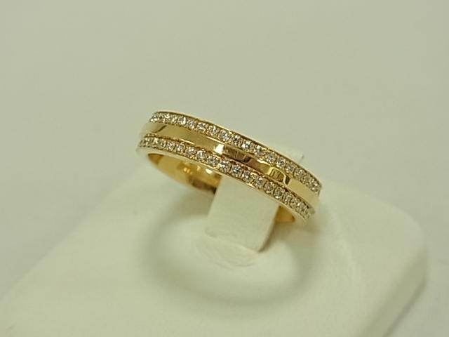 【送料無料】ティファニー Tツーナローリング パヴェダイヤモンド K18YG 11.5号 5.7グラム 指輪【中古】