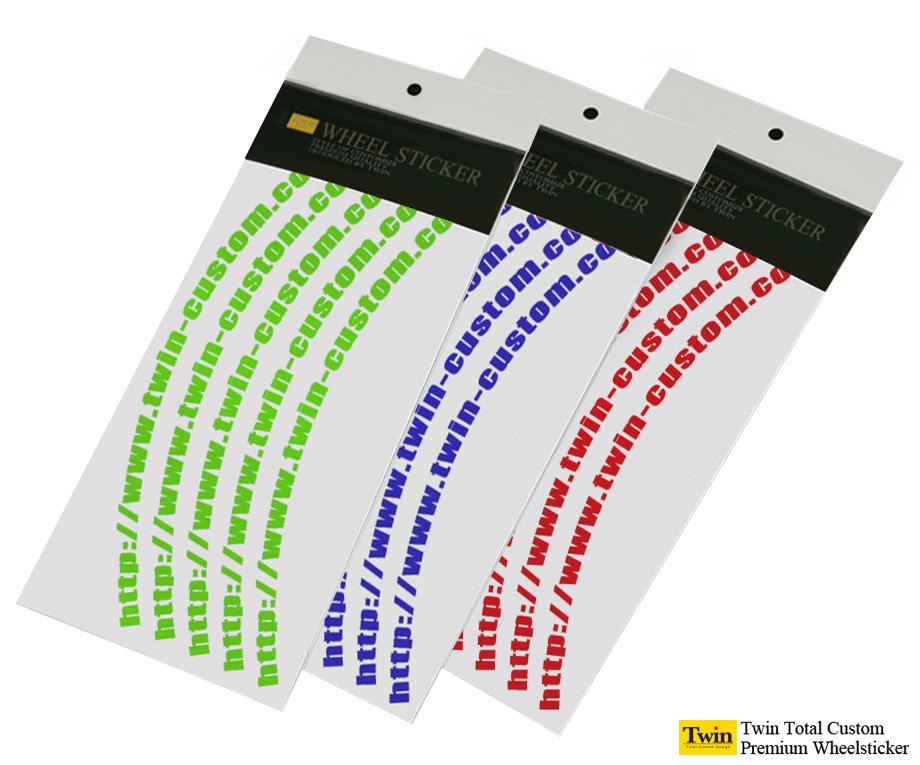 デザインホイールステッカーtype-8 8~14インチ リムステッカー英文字タイプ 激安卸販売新品 授与 送料無料