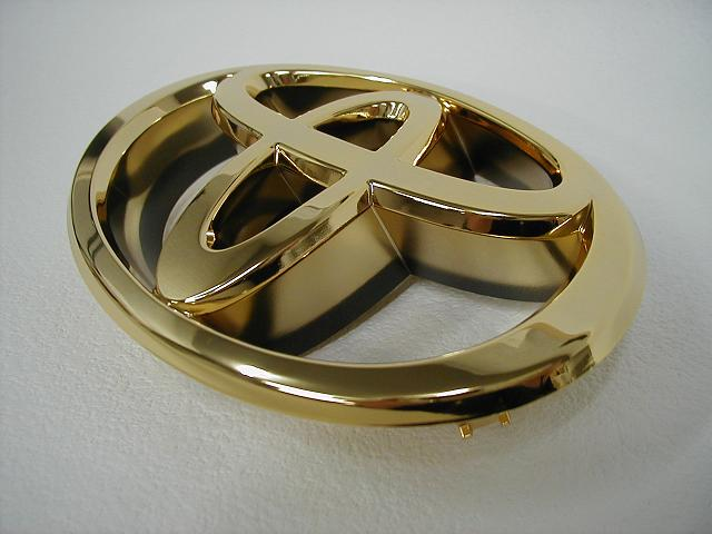24 Karat Gold Plating Emblem Front T Mark Harrier 30 System