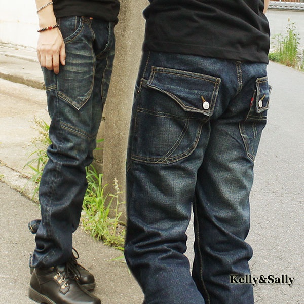 c7675af1a2c Jeans men jeans Kinney denim underwear rider soot rim big size straight  pants hip pocket chino ...