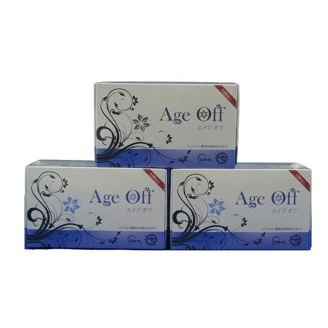 エイジオフ 120粒 3個セット  【送料無料】 | ヒアルロン酸ECM・Eとプラセンタとコラーゲンの飲むエステ エイジオフ Age Off エイジングケアサプリメント セラミド サフラン