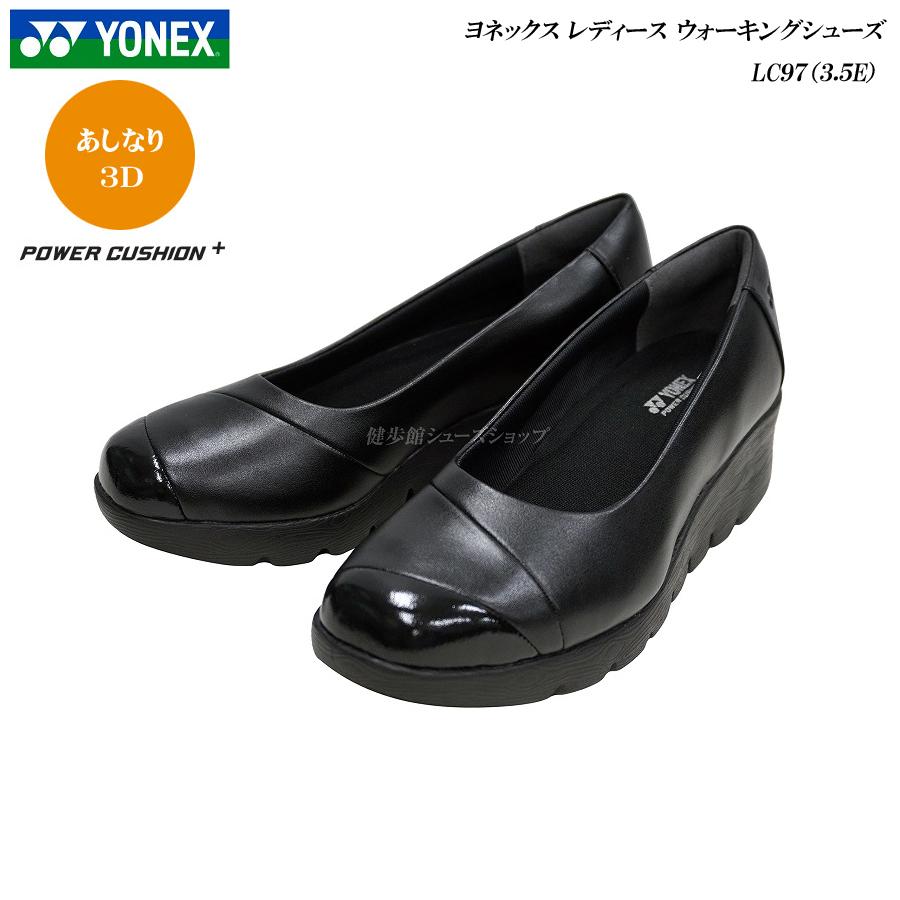 【最大3,000円OFFクーポン♪】ヨネックス/パワークッション/ウォーキングシューズ/レディース/靴/LC97/LC-97/3.5E/ブラック/YONEX Power Cushion Walking Shoes