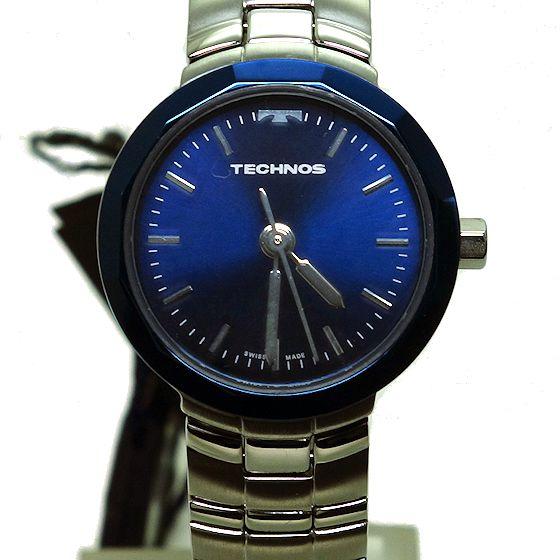 【未使用品】TECHNOS☆テクノス紺文字盤 レディース クオーツ腕時計13.81006.04