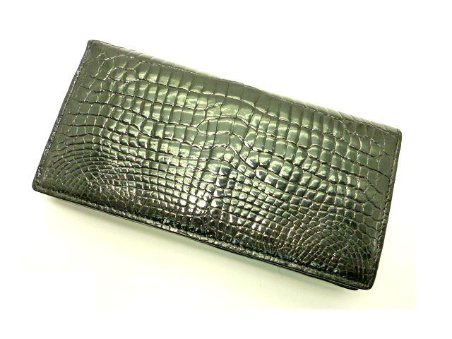 【未使用】クロコダイル革の無双長財布ブラック【新品特価品】