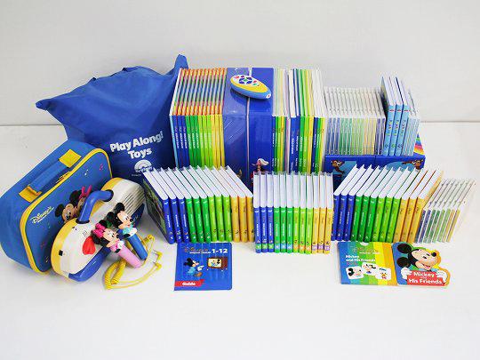 M11【お値下】美品多◆ミッキーパッケージ【2011年版】(シングアロング付)+P玩具付◆ディズニー英語システム【中古】ワールドファミリー DWE 英語教材 幼児教材 子供教材 知育教材 【送料無料】