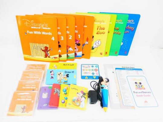 【新着】◆ミッキーマジックペンセット【2010年版】◆ディズニー英語システム【中古】ワールドファミリー DWE 英語教材 幼児教材 子供教材 知育教材 525002