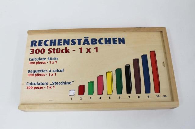 『4年保証』 RECHENSTABCHEN 計算スティック 期間限定特別価格 数学スティック 300 中古 幼児教材 知育教材 木製玩具 子供教材 133012 MGANGU1218
