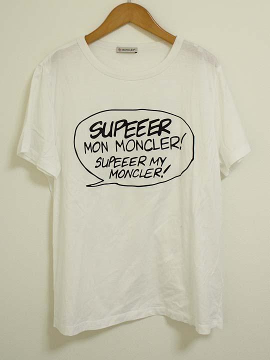 【値下げ】《MONCLER/モンクレール》半袖Tシャツ ホワイト/白 メンズ '18S/S製 メンズ XS XS【中古 USED】春夏秋冬【中古 古着 USED】春夏秋冬, 大利根町:ab2858ce --- officewill.xsrv.jp