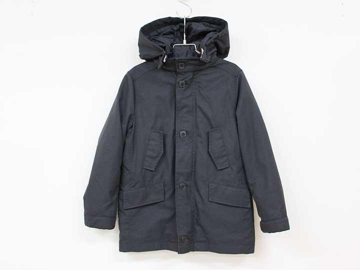 [ボンポワン/BONPOINT]125cm 中綿ライナー付コート 黒【中古 USED】子供服 キッズ kids 男の子 冬