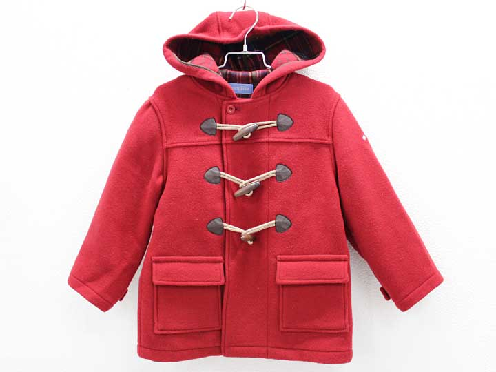 【Fashion THE SALE!】[ファミリア/familiar]110cm ダッフルコート 赤【中古 USED】子供服 キッズ kids 女の子 冬 501191