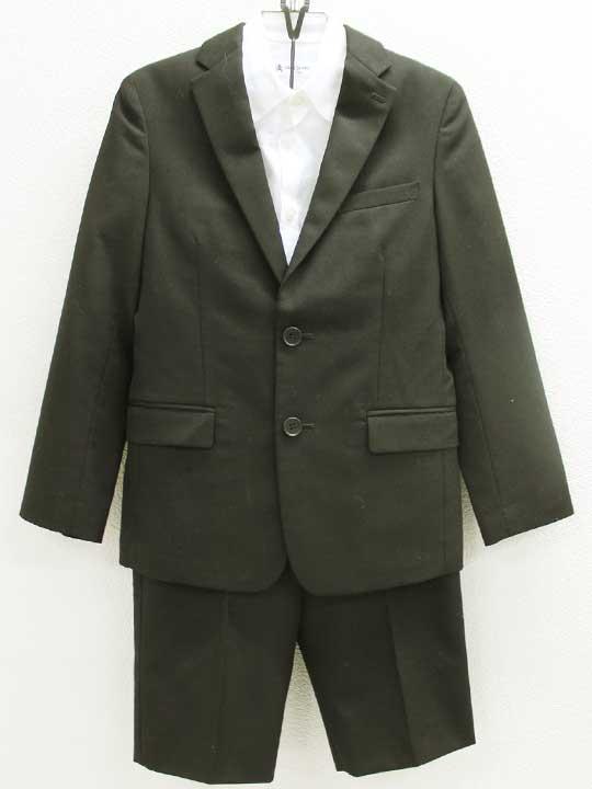 値下げ コムサエンジェル COMME CA ANGEL 日本製 130cm スーツ3点セット 黒 白 フォーマル 七五三 入学式 中古 結婚式 正規品 冠婚葬祭 発表会 kids キッズ 卒園式 男の子 謝恩会 子供服 812012