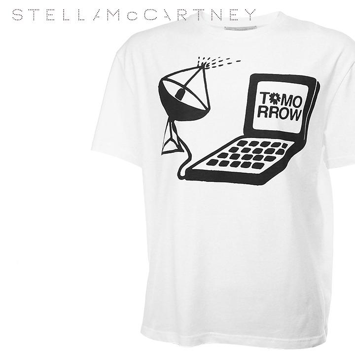 ■Stella McCartney ステラマッカートニー メンズ■クルーネック プリントTシャツ 半袖 Tシャツ【453010】【サイズS】【ホワイト】ste-m-t-89-321 《メーカー希望小売価格32,400円》