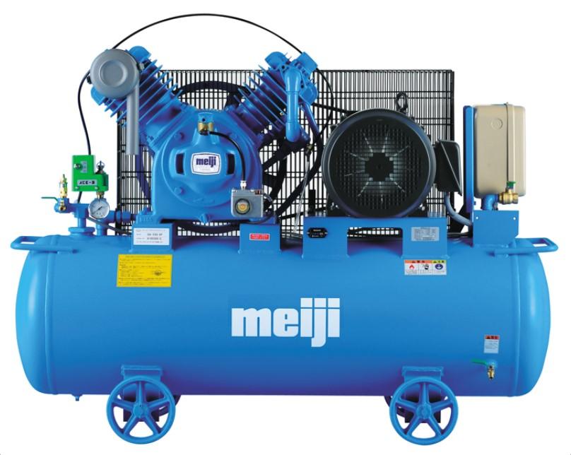 最高品質の エアーコンプレッサー 明治機械 7.5馬力 レシプロ式 給油式:kikaihanbai GK-55D-DIY・工具