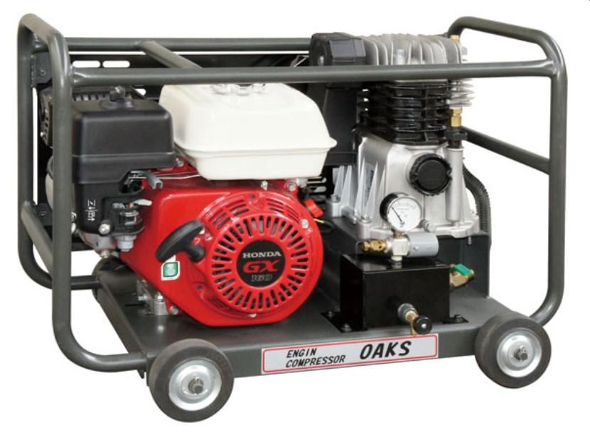 明治機械 小型軽量コンプレッサー OAKS オークス ハンディタイプ 2.5馬力 エアーコンプレッサー