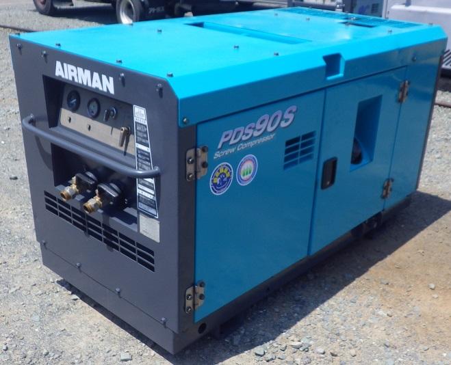 中古 PDS90S エンジン コンプレッサー 北越工業 AIRMAN スクリューコンプレッサー  整備済 塗装済 エアマン 25馬力