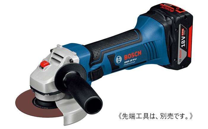 ボッシュ コードレスディスクグラインダー GWS18V-LIN バッテリー付き BOCSH 先端工具別売