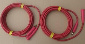 溶接 キャブタイヤケーブル 赤 延長用 トータル 40mセット 両端ジョイント 22スケア