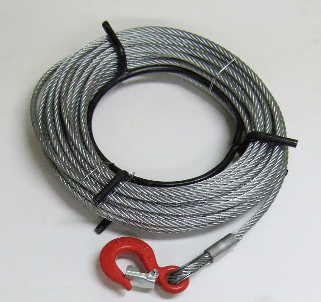 【送料無料】ワイヤーロープ20m巻 フック付 ハンドウインチ 万能携帯ウインチ1600kg用 KIKAIYA