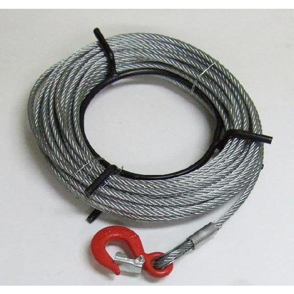 送料無料 ワイヤーロープ50m巻 フック付 ハンドウインチ 万能携帯ウインチ800Kg用 KIKAIYA