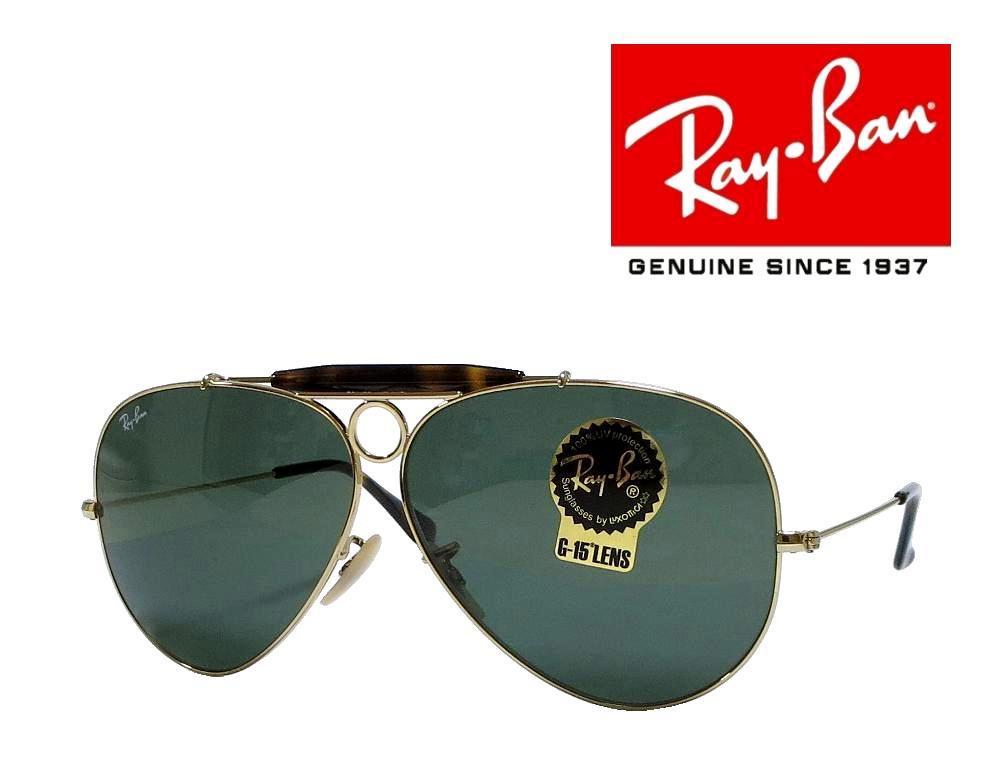 送料無料【Ray-Ban】レイバン  サングラス  SHOOTER  RB3138 181  ゴールド  国内正規品