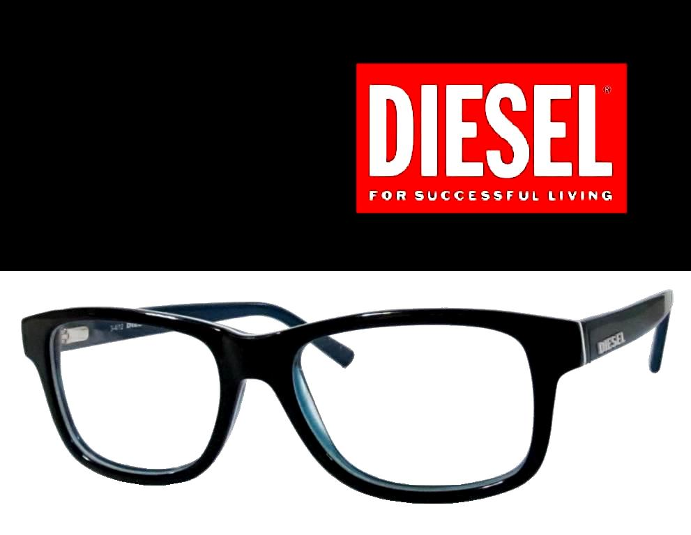 diesel eyeglasses frame dl5001 005 black regular domestic