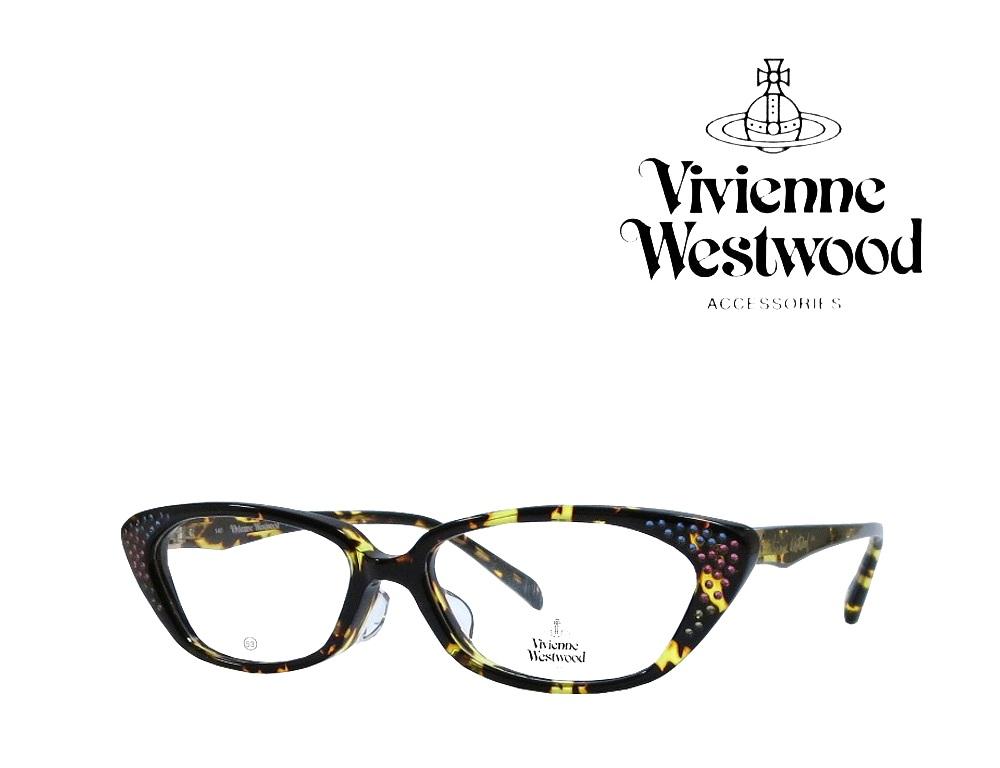 送料無料【Vivienne Westwood】ヴィヴィアンウエストウッド メガネフレーム  アッパーライン  VW-3002   YD   イエローデミ