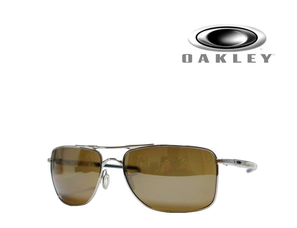 送料無料 【OAKLEY】オークリー サングラス Gauge 8  OO4124-0557  Tungusten Iridium Polarized  ポリシュドクローム  偏光レンズ  国内正規品 《数量限定特価品》