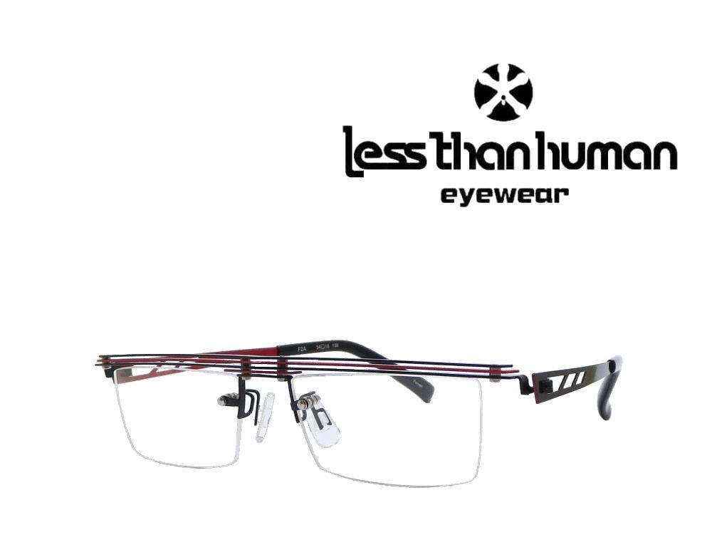 送料無料 【LESS THAN HUMAN】レスザン ヒューマン  メガネフレーム  F2A   Ferrari  ブラック/レッド
