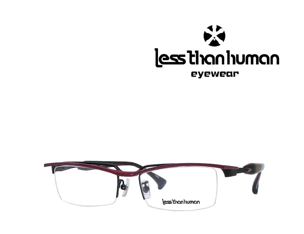 送料無料【LESS THAN HUMAN】レスザン ヒューマン   メガネフレーム  re-100010  195R   ブラック/レッド