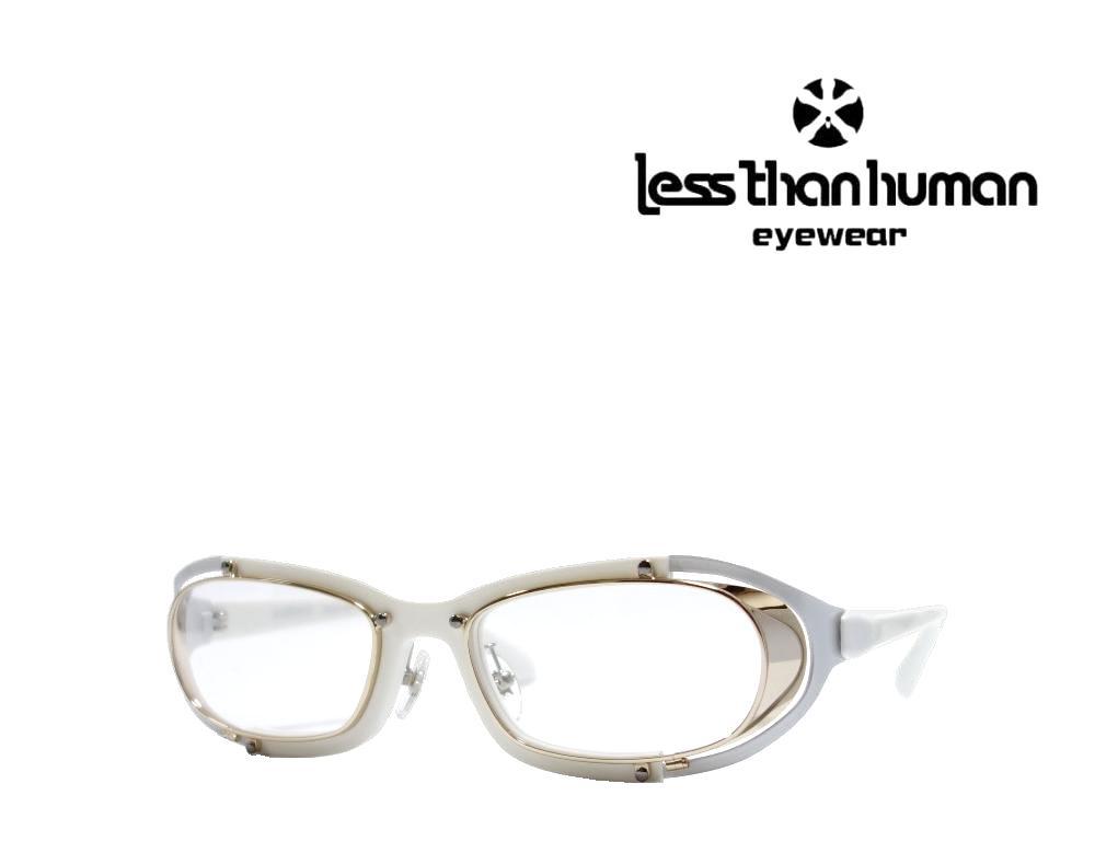 送料無料 【LESS THAN HUMAN】レスザン ヒューマン メガネフレーム  SAKIGAKE  59  ホワイト・ライトゴールド