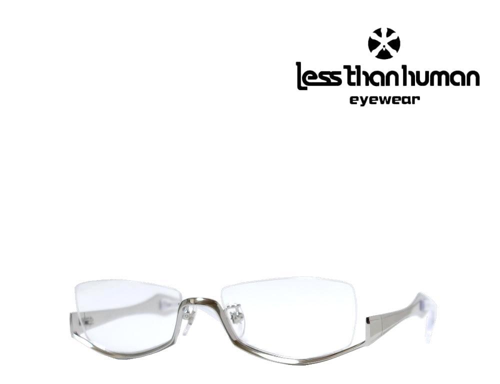 送料無料 LESS THAN チープ HUMAN レスザンヒューマン 8289 シルバー 激安通販ショッピング アンダーリム 1010Limited メガネフレーム