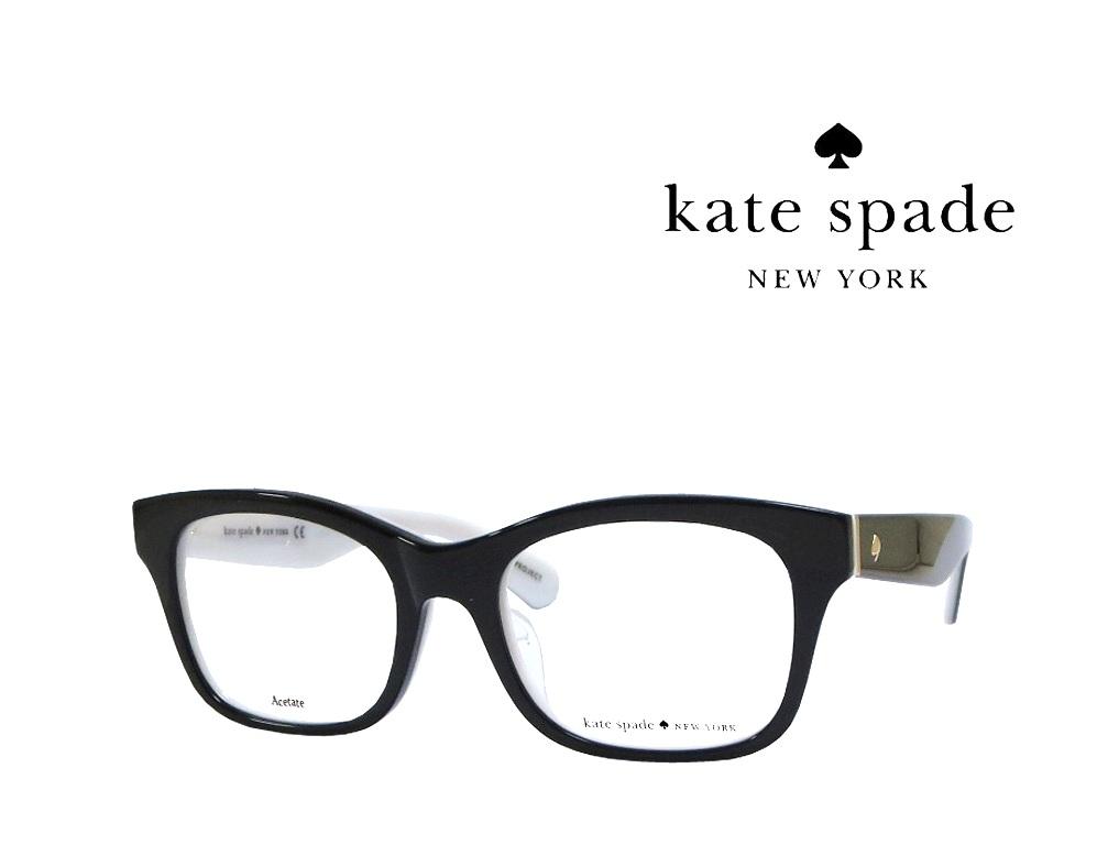 【Kate spade】 ケイトスペード メガネフレーム  JONNIE/F  QOP  ブラック   国内正規品