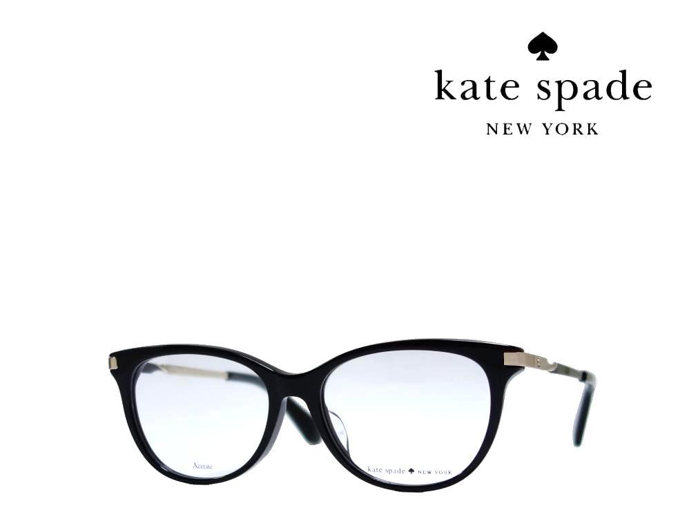 【Kate spade】 ケイトスペード メガネフレーム  EMALIE/F  807  ブラック/ゴールド  国内正規品 《数量限定特価品》