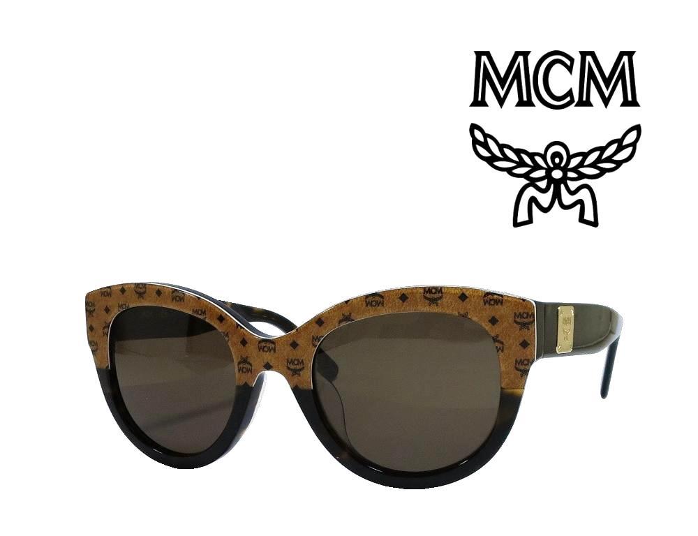 【MCM】 エムシーエム サングラス  MCM608SA   258   ブラウンロゴ・ハバナ  国内正規品