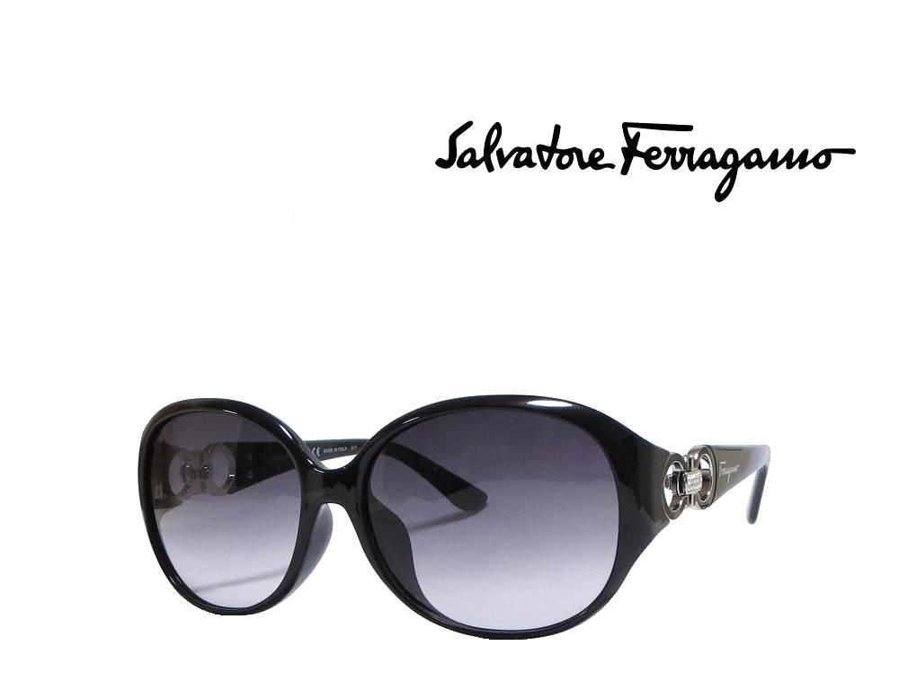 【Salvatore Ferragamo】サルヴァトーレ フェラガモ サングラス SF896SRA  001  ブラック  アジアンフィット 国内正規品