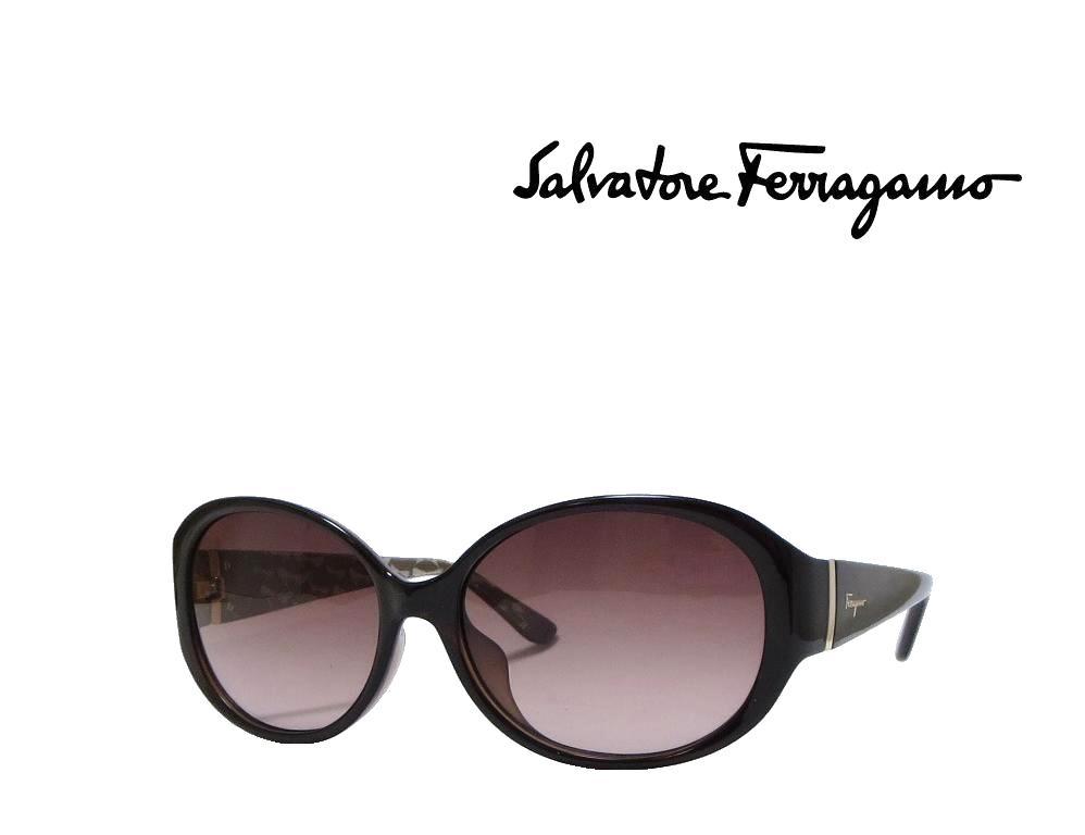 【Salvatore Ferragamo】 サルヴァトーレ フェラガモ サングラス SF683SA 220 パールダークブラウン  アジアンフィット 国内正規品
