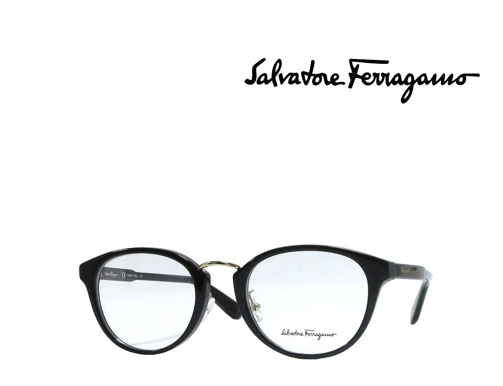 【Salvatore Ferragamo】サルヴァトーレ フェラガモ メガネフレーム  SF2820A   001  ブラック  国内正規品 《数量限定特価品》