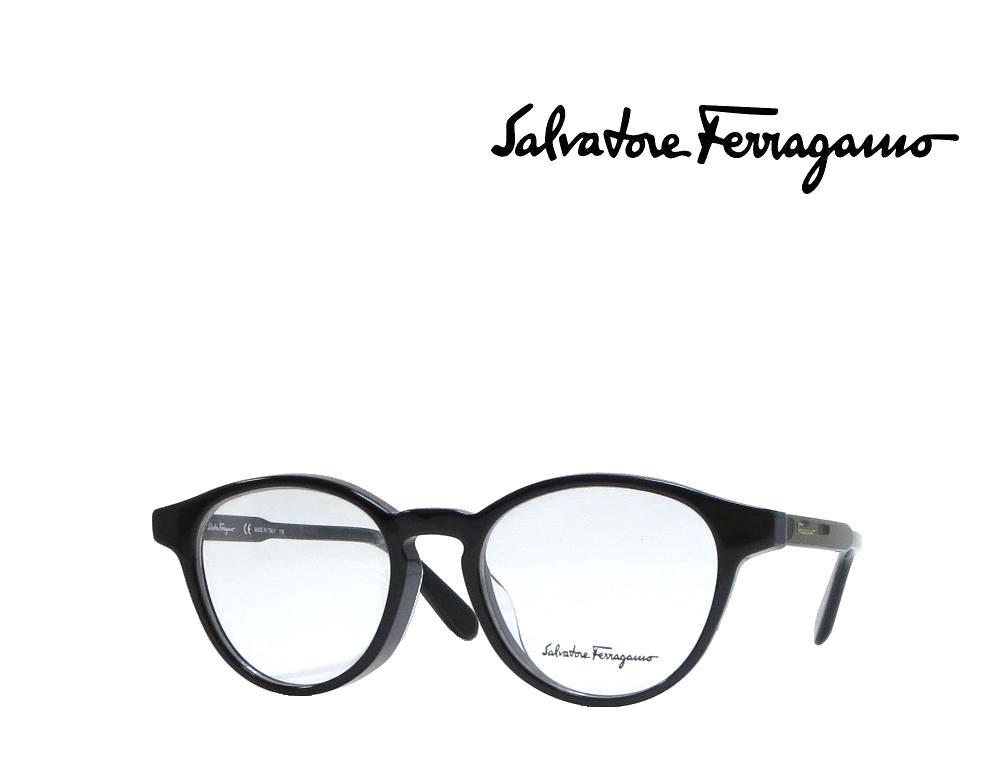 【Salvatore Ferragamo】サルヴァトーレ フェラガモ メガネフレーム  SF2821A   001  ブラック  アジアンフィット 国内正規品