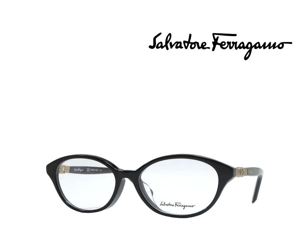 【Salvatore Ferragamo】サルヴァトーレ フェラガモ メガネフレーム  SF2819A   001  ブラック  国内正規品