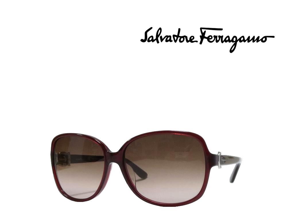 【Salvatore Ferragamo】サルヴァトーレ フェラガモ サングラス SF615SA  604  バーガンディ アジアンフィット  国内正規品 《数量限定特価品》