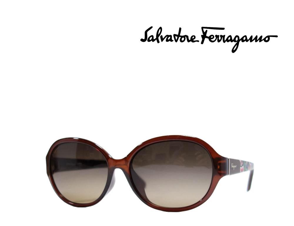 【Salvatore Ferragamo】サルヴァトーレ フェラガモ サングラス SF6918A  210  ブラウン  アジアンフィット 国内正規品