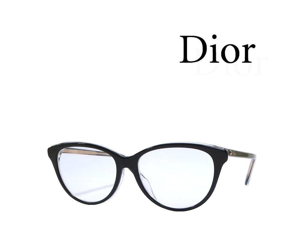 【Dior】 ディオール メガネフレーム MONTAIGNE17F  G99 ブラック アジアンフィット 国内正規品