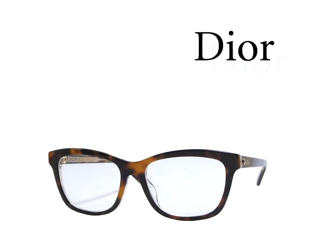 【Dior】 ディオール メガネフレーム MONTAIGNE19F  G9Q ハバナ アジアンフィット 国内正規品