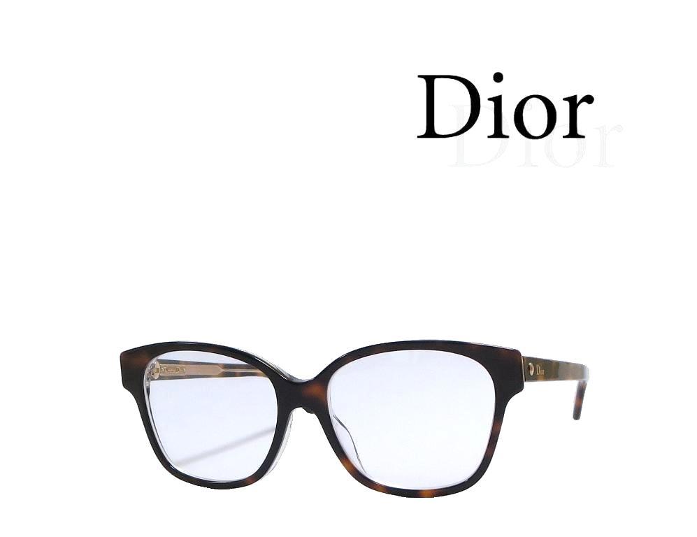 【Dior】 ディオール メガネフレーム MONTAIGNE8F  G9Q ハバナ アジアンフィット 国内正規品