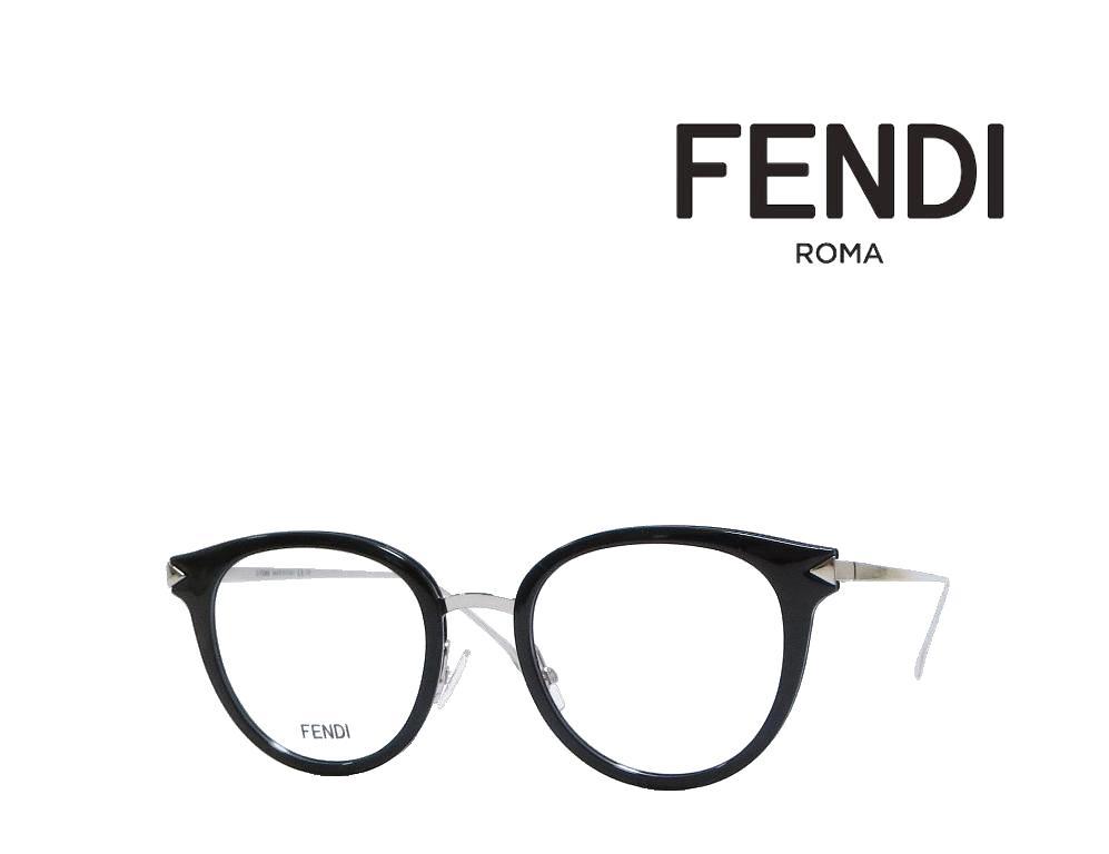 【FENDI】 フェンディ メガネフレーム FF0166 RMG  ブラック 国内正規品