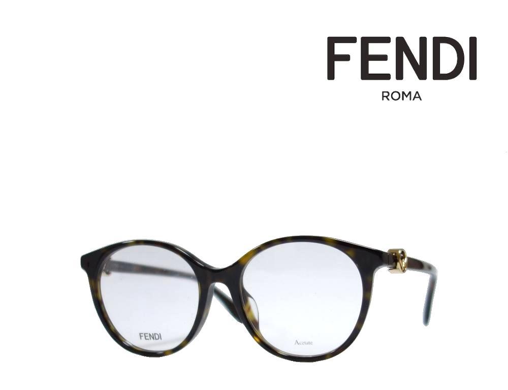 【FENDI】 フェンディ メガネフレーム FF0336/F 086  ダークハバナ アジアンフィット 国内正規品