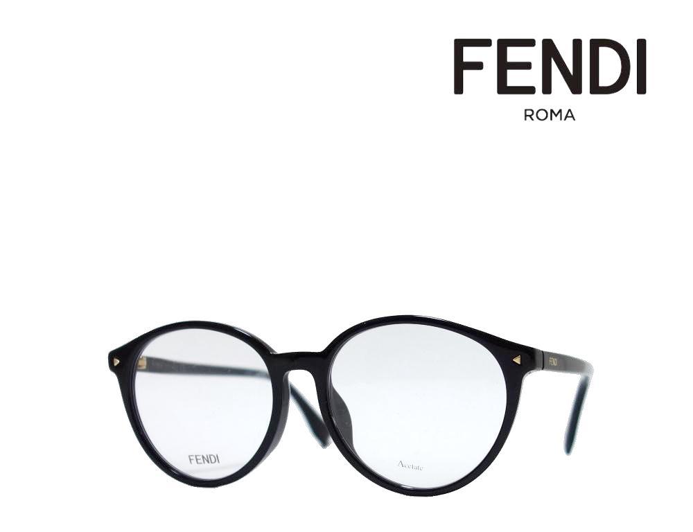 【FENDI】 フェンディ メガネフレーム FF0365/F 807  ブラック アジアンフィット 国内正規品