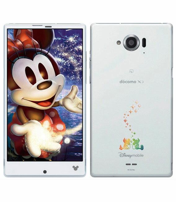 【中古美品Aランク】Disney Mobile on docomo SH-02G スパークリングホワイト ライトピンク アイスブルー 送料無料【白ロム】