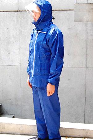 《レインスーツ★まわるフード》K-8000 キンカメハイデラスーツ サイズ6L