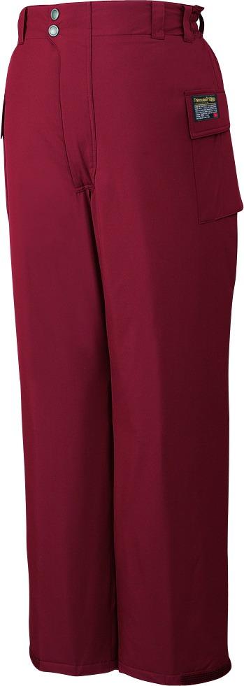 【防水】 作業服 防寒パンツ 自重堂 jic48381 ワイン 大きいサイズ 4L 5L 作業着 ビッグサイズ 冬用